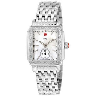 Michele Michele Michele Ladies Deco-16 Mother Of Pearl Dial Steel Watch