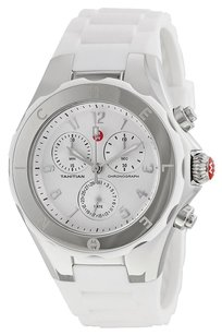 Michele MICHELE MWW12F000032 Tahitian Jelly Bean Silver Dial White Silicone Ladies Watch
