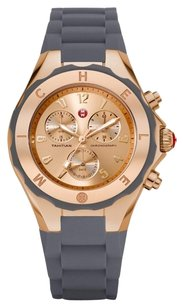 Michele MICHELE Tahitian Jelly Bean Grey Rose Gold Tone, Grey Dial