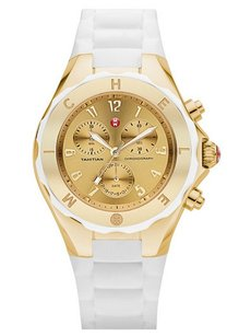 Michele Michele Women's MWW12F000031 Tahitian Jelly Bean White Silicone Watch