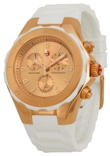 Michele NWT Womens WATCH Large Jelly Bean White ROSE GOLD Tahitian