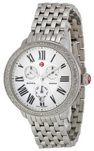 Michele MWW21A000001 Serein Silver Dial Chronograph Stainless Steel Ladies Watch
