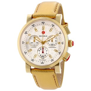 Michele Sport Sail Chronograph Silver Dial Ladies Watch MWW01N000006