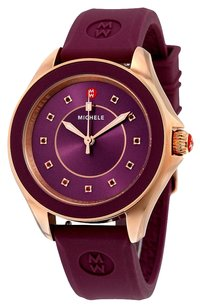 Michele Women's Rose Gold Tone Berry Silicone Watch MWW27A000002