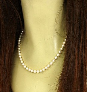 Mikimoto Mikimoto 18k Yellow Gold 6mm Pearl Necklace 34 Long