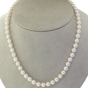 Mikimoto Mikimoto 18k Yellow Gold Clasp 7mm Strand Akoya Cultured Pearls Necklace