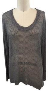 Millau Charcoal Sheer Pilled Sweater