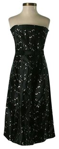 Milly of New York Silk Print Strapless Empire Waist Dress
