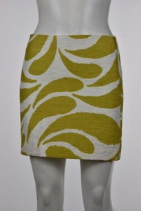 MILLY Womens Printed Skirt White