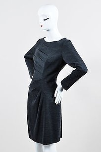 MILLY Charcoal Wool Long Dress