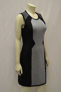 MILLY Blackgray Ge Leather Dress