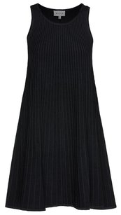 MILLY short dress Black Textured Panel Fit & Flare on Tradesy