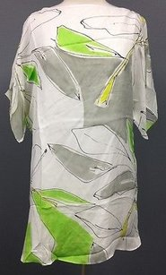 MILLY short dress White Gray Green Yellow on Tradesy