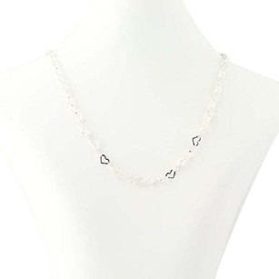 Milor Milor Fancy Chain Necklace 15 12 - Sterling Silver Heart-shaped Links