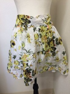Mimi Chica Cotton White Skirt Yellow