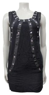 MINKPINK short dress Black Silver Grommet Embellished Shift on Tradesy