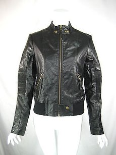 Miss Me Faux Leather Black Jacket