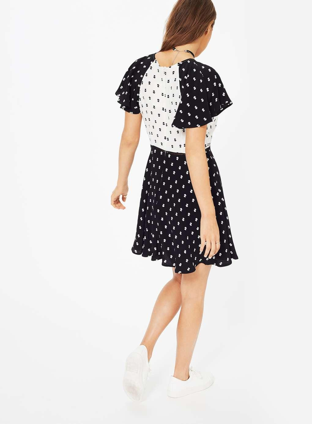 Miss selfridge black and white casual dress
