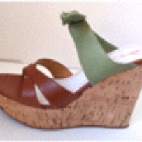 Miss Sixty Green/Brown Platforms