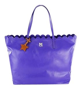 Missoni Leather Shoppers Tote in purple