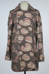 Missoni Womens Printed Basic Casual Wool Coat Gray Jacket