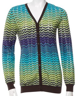 Missoni Longsleeve Striped Chiffon Cardigan