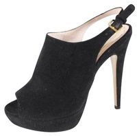 Miu Miu 37 Black Heels Gdl Pumps