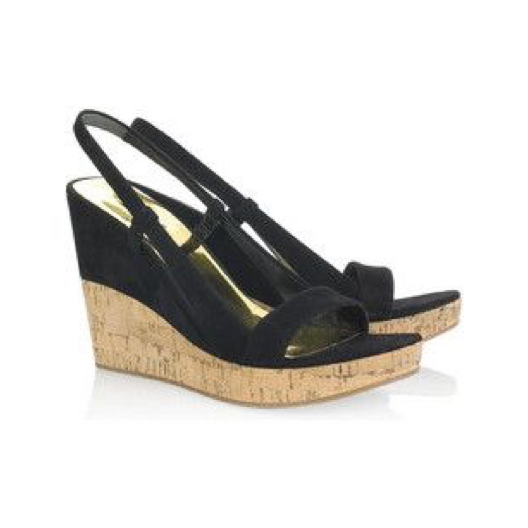8b09a286cca6 Miu Miu Miu Miu Black Cork Wedge Sandals Size US 5.5 Regular (M