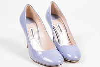 Miu Miu Leather Blue Pumps