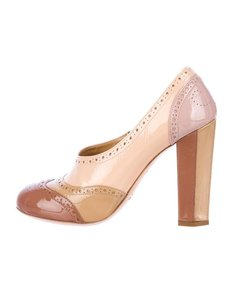 Miu Miu Womens Patent Leather High Heel Multi-Color Pumps