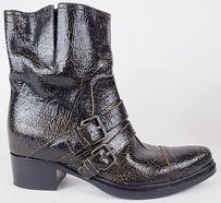 Miu Miu Crackle Black / Brown Boots