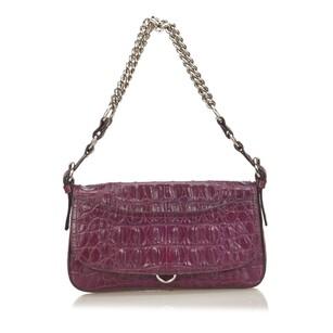 Miu Miu Leather Purple Shoulder Bag