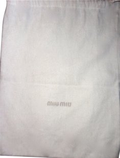 Miu Miu Miu Miu Cream Cotton Drawstring dust bag