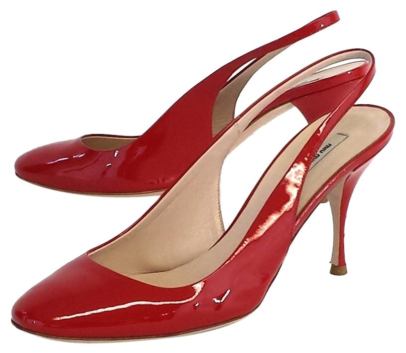 cheap sale great deals quality free shipping low price Miu Miu patent Leather Slingback Pumps 8vFCosGG