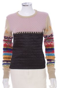Miu Miu Wool Viscose Quilted Italian Sweater