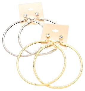 Other 2 Pair Oversized Hoop Set