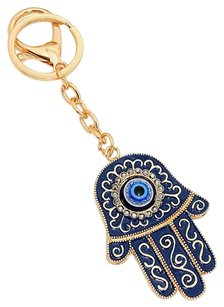Other Crystal pave evil eye hamsa hand keychain