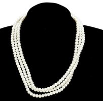 Modern Edge multi-strand faux pearl necklace