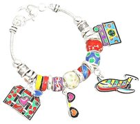 Other Multi Beaded Britto Style Travel Charm Bracelet