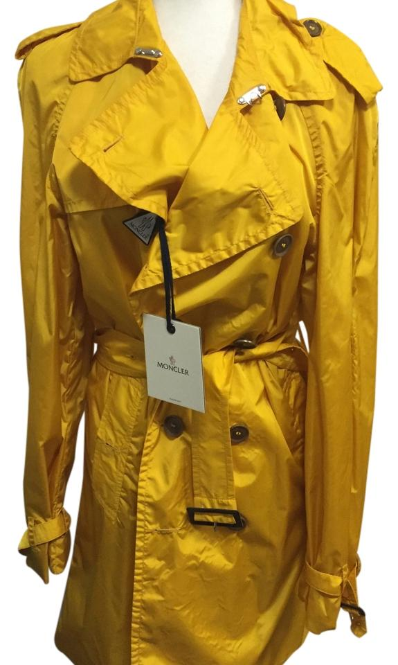 moncler yellow raincoat