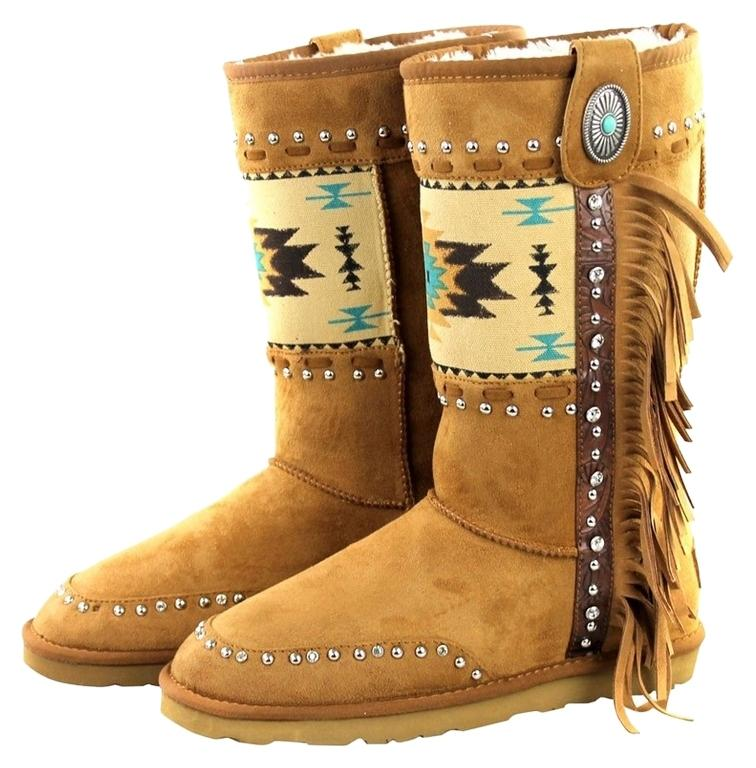 Montana West Brown Boho Tribal Chic Suede Leather Fringe