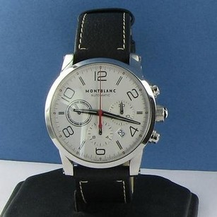 Montblanc Montblanc 107573 Special Usa Timewalker Chrono Wht Dial Leather Watch