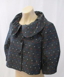 Moschino Jeans Black Cropped Multi-Color Jacket
