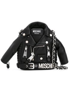 Moschino Leather Vintage black Clutch