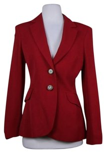 Moschino Moschino Cheap And Chic Womens Red Blazer Long Sleeve Wtw Basic Jacket