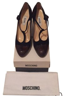 Moschino Navy/Brown Pumps