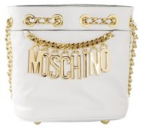 Moschino Party Calf Leather Bucket Shoulder Bag