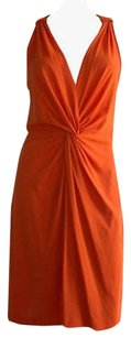 Moschino Cheap Chic Stretch Knot Twist Fitted Hs1588 Dress