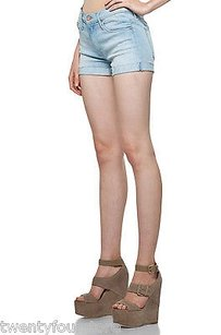 Mother Jeans Short Fray Cuff Cut Off Shorts Blue