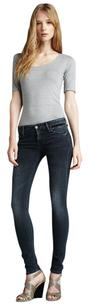 Mother Grand Sophie Faded Black Washed Mid Rise Skinny Denim 25 Skinny Jeans
